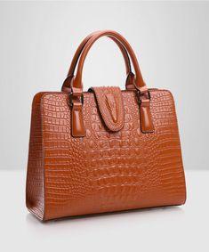 High Quality Genuine Leather Bag Ladies Crocodile Pattern Women Messenger Bags Handbags Women Famous Brand Designer From China Cheap Purses, Cheap Handbags, Women's Handbags, Spring Handbags, Trendy Purses, Crochet Handbags, Crochet Bags, Handbags Online, Popular Handbags