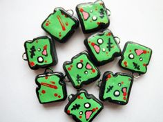 Kawaii Cute Zombie Toast Charm by ZombiesGoRawr on Etsy, $4.00