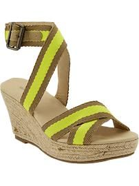 Old Navy wedges... not something I would normally pick, but these are super cute!