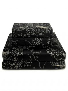 """Geisha Moon Tattoo"" Sheet Set by Sin in Linen"