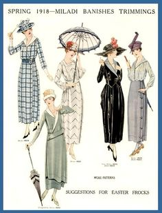 1918; such a pretty year of fashion.