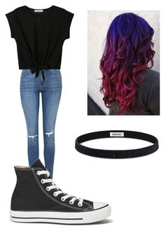 """""""School outfits"""" by johannaelyce on Polyvore featuring Topshop, Converse, Sparkly Soul, women's clothing, women, female, woman, misses and juniors"""