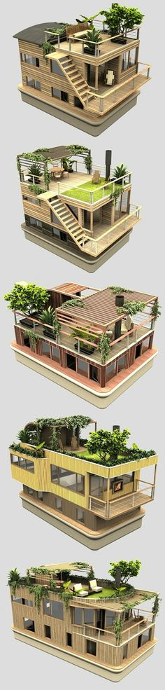 qieenplo - 0 results for architecture House Front Design, Cool House Designs, Modern House Design, Amazing Architecture, Architecture Design, Model House Plan, Casas The Sims 4, Floating House, Container House Design