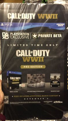 Call of Duty: WWII Pro Edition Leaked and Exclusive PlayStation Private Beta! New Games For Ps4, Xbox One Games, Ps4 Games, News Games, Playstation, Xbox Pc, Gamer News, Xbox News, Cod Ww2