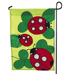Lady bugs -  spring flag