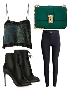 """""""Untitled #2470"""" by fiirework ❤ liked on Polyvore featuring Ashish, H&M, Gianvito Rossi and Valentino"""