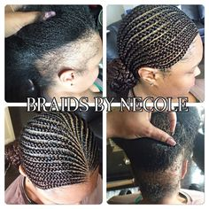 14 Extraordinary Alopecia Camouflage Cornrows By Braids By Necole Read the article here - http://www.blackhairinformation.com/general-articles/playlists/14-extraordinary-alopecia-camouflage-cornrows-braids-necole/