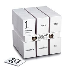 Designed by Philip Stroomberg, The Cube Calendar turns the calendar into a new form that lets you tear off a card for each day.