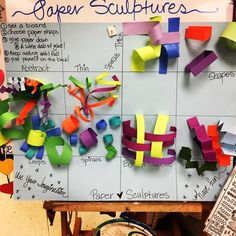 #Paper #Sculptures are about to go down:) #artlove #kidsart #3d #fun