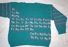 periodic table sweater