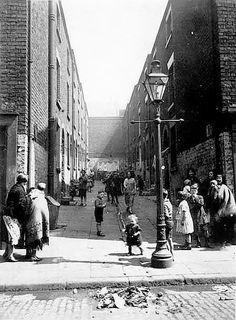 Liverpool Court - early 19th century? Real poverty in those days.