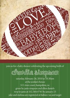 cute football baby shower invite!!!