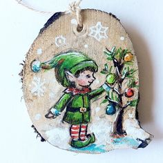 The new ornaments are listed!! Click on the link in my bio to check them out  . . #jenniferstablesart #okotoksartist #christmasornaments #christmasgift #yycchristmas #christmaself #woodsliceornament #madeincanada