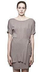 Mink Wrap Dress by Dagg + Stacey