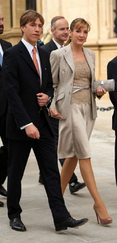 Oct 19 - Prince Louis of Luxembourg and Princess Tessy of Luxembourg