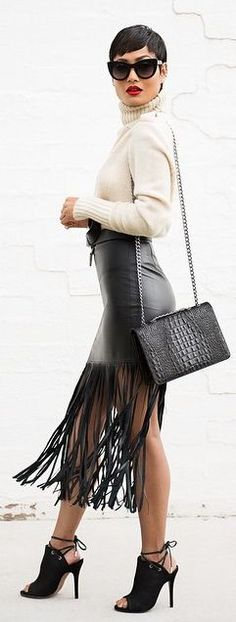 Beige And Black Chic Style by Micah Gianneli