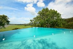 A lovely infinity pool with stunning view and plenty of privacy.