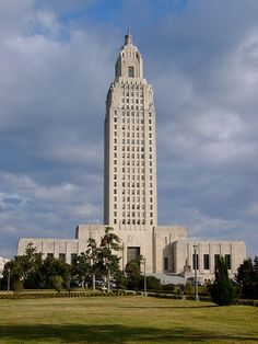 """Louisiana State Capitol in Baton Rouge was completed in 1932 and is viewed as a monument to Huey Long, the governor who was immortalized in Robert Penn Warren's book """"All the King's Men."""" At 450 feet tall and 34 stories, it is the tallest state capitol building in the United States. It was designed by Weiss, Dreyfous, and Seiferth."""