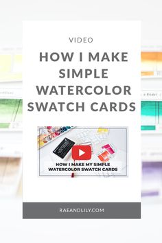 6562e216a2 How I make my simple watercolor swatch cards using a custom made stamp!   watercolors