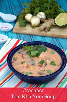 Crockpot Tom Kha Yum Soup by Plaid & Paleo. #paleo
