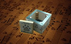 Caja Partitura Container, Geek Crafts, Sheet Music, Drawers, Snare Drum, Hand Made