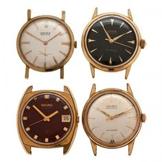 A group of four 1960's vintage watches including a manual wind Gruen Precision N510 with a white dial, gold hands and markers and a subseconds dial, a