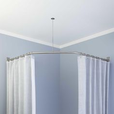 Neo Angle Solid Br Shower Rod And Ceiling Support