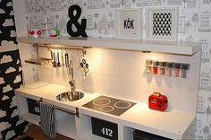 Una cocina de juguete que parece de verdad y que puedes elaborar tú mismo