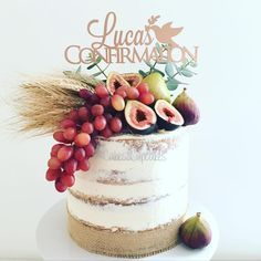 Rustic confirmation cake