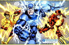 Blue Lantern Flash and the Flash family