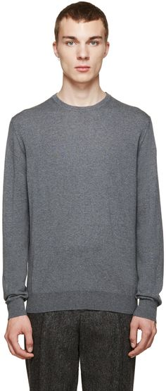 Moncler - Grey Classic Crewneck Sweater