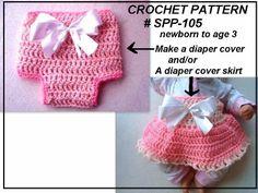Free Baby Crochet Diaper Cover | CROCHET DIAPER COVER SKIRT SET for baby girls | HECTANOOGA PATTERNS