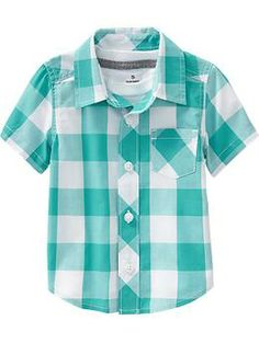 Toddler boy linen blend button front shirts for baby for Boys teal t shirt