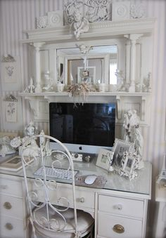 1000 images about new shabby chic girl cave home office decor ideas on pinterest shabby chic office desks and offices chic home office office