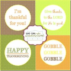 Thanksgiving Cupcake Toppers, Free Printables, Paper crafts, Thanksgiving Tags