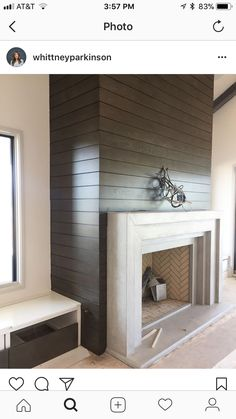 Top 20 Best Concrete Fireplace Designs – Minimalistic Interior Ideas The fireplace has been the center of the home since man first sought shelter, and throughout the centuries it has acted as the hallmark of a truly well-appointed home. Corner Fireplace, Fireplace Design, Fireplace Seating, Faux Fireplace, House, Tv Over Fireplace, Black Fireplace, Fireplace Surrounds, Fireplace Hearth