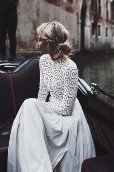 30 Stunning Long Sleeve Wedding Dresses - Bridal Musings Self Portrait Gown