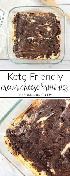 Keto cream cheese brownies are SO good. Totally my new go to low carb brownie recipe Keto cream cheese brownies are SO good. Totally my new go to low carb brownie recipe Desserts Keto, Desserts Sains, Keto Snacks, Dessert Recipes, Paleo Dessert, Recipes Dinner, Cheese Dessert, Dinner Ideas, Plated Desserts