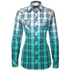 Rock & Roll Cowgirl Women's Stud Long Sleeve Shirt