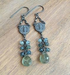 #Repost @starrymom5  Rosary inspired sterling silver and moss aquamarine earrings.  Available! #starrynightdesigns #sterlingsilver #style #artisan #designer #fashion #forsale #handmadejewelry #jewelry #metalsmith #boho #bohojewelry #catholic #catholicjewelry #stbenedict #polish #ooak #oneofakind #wirewrapped #wirewrappedjewelry #etsy #etsyseller #etsyshop #etsystore #moss #mossaquamarine