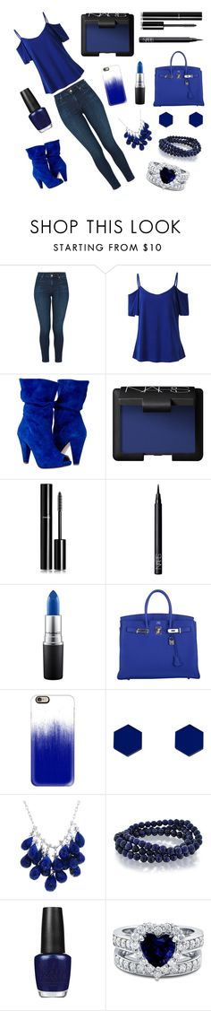 """""""Untitled #94"""" by dderoseau ❤ liked on Polyvore featuring J Brand, NARS Cosmetics, Chanel, MAC Cosmetics, Hermès, Casetify, Wolf & Moon, Ten Thousand Things, Bling Jewelry and OPI"""