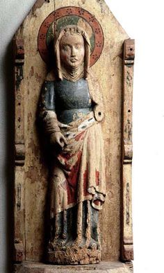 Female saint Eke, region of Gotland, Sweden provincial work,  ca 1400