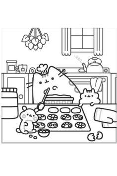 pusheen pusheen coloring pages