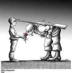 100 Anti-System Caricatures from Exiled Iranian Cartoonist Mana Neyestani Cartoon Kunst, Cartoon Art, Art And Illustration, Dark Fantasy, Fantasy Art, Art Sketches, Art Drawings, Satirical Illustrations, Meaningful Pictures