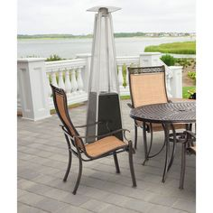 Hanover BTU Pyramid Propane Patio Heater in Black, your outdoor entertainment season with Hanover's collection of pyramid propane patio heaters. Its high-performing BTUs of heat make this patio heater an es Fire Sense Patio Heater, Propane Patio Heater, Outdoor Seating, Outdoor Spaces, Outdoor Chairs, Outdoor Decor, Deck Furniture, Outdoor Furniture Sets, Infrared Heater