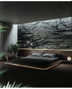 Modern Bedroom Design, Home Room Design, Dream Home Design, Home Interior Design, House Design, Dream House Interior, Luxury Homes Dream Houses, Natural Bedroom, Dark Interiors