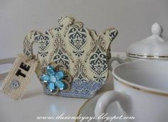 DIY Cardboard Tea Bag Holder