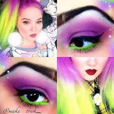 Eye makeup inspired by @Kelsey Myers Myers Myers hartley   hora de oro // golden hour Deere's hair!  Thanks, makeatrish_!