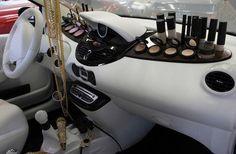 My dream car makeup station come true!