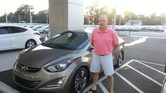 """Bobby Thompson came in and bought a 2015 Hyundai Elantra with our salesman Kenny Swartz helping him along the way. """"My experience was great, Kenny took care of all of my needs, thank you!"""" No, thank you Mr. Thompson! We're happy you enjoyed your visit and hope to see you again soon! Remember, if we can do anything, don't hesitate to ask.. We're here to help! #2015HyundaiElantra #Elantra #Hyundai #Lakeland #LakelandHyundai #Automall"""